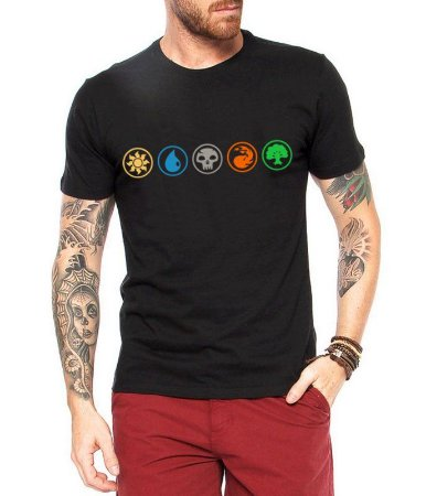 Camiseta Masculina - Camiseta de Batalha Encantamento Magic