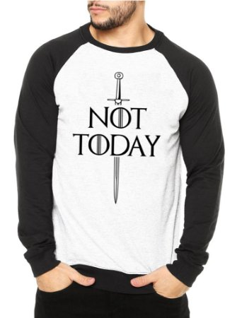Moletom Masculino Raglan Game of Thrones Not Today