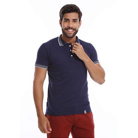73c468ffe6 Camisa Gola Polo Masculina Azul Marinho em Malha Piquet - COMPRE ...
