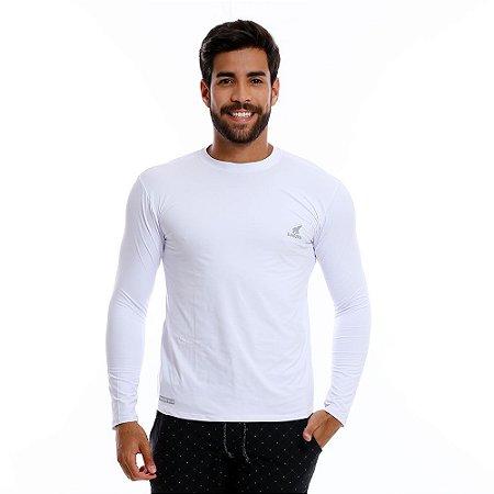 Camisa UV Masculina Com Proteção Solar Fator 50 Branca