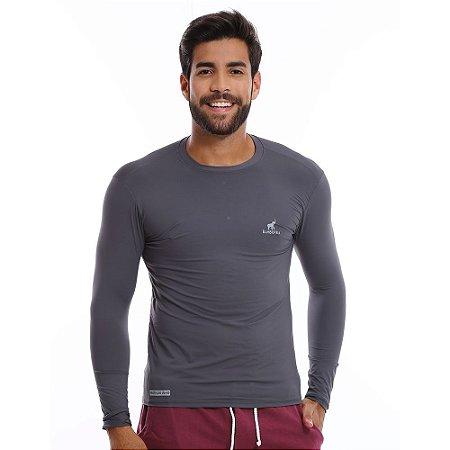 Camiseta Bamborra Com Proteção Solar UV Fator 50 Cinza - COMPRE ... 601188486cb