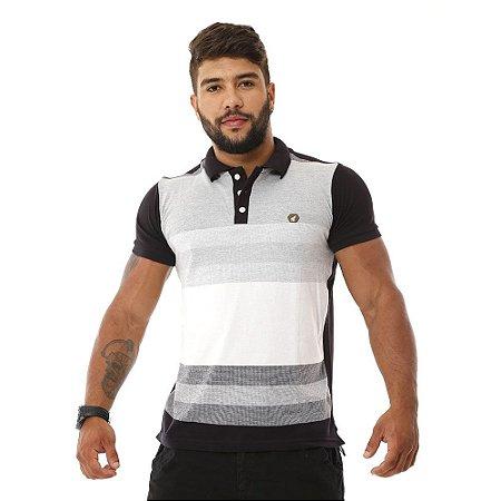 3efc8e08f8 Camisa Gola Polo Masculina Bamborra Preta Listrada - COMPRE ROUPA ...