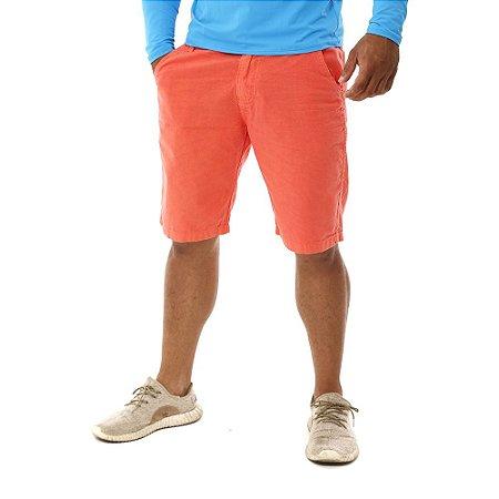 Bermuda Masculina Barata Colorida Brim Sarja Coral