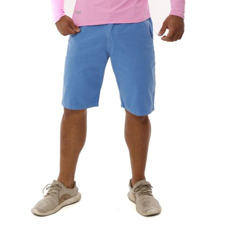 Bermuda Masculina de Sarja Azul Claro Bamborra