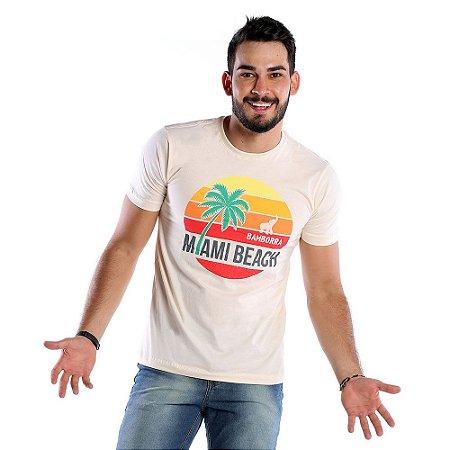 5bead4338 Camiseta Estampada Masculina Miami Beach Bamborra - COMPRE ROUPA ...