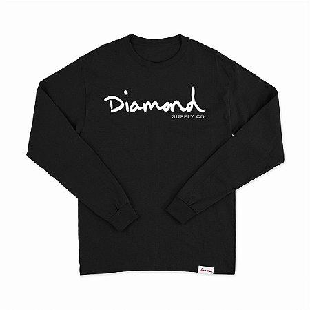 Camiseta Diamond Manga Longa Black
