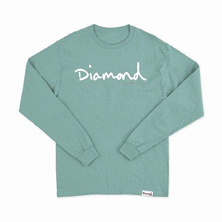 Camiseta Diamond Manga Longa Azul