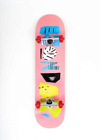 Skate Montado Hondar Iniciante 8.0 logo Rosa