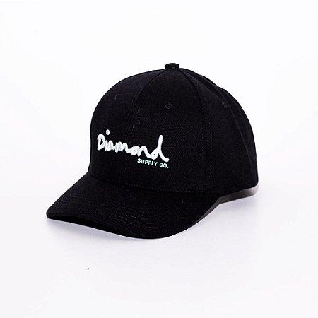 Boné Aba Curva Baseball Diamond Supply co. logo black