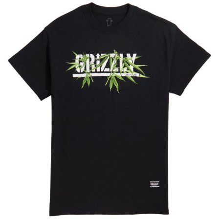 T-SHIRT GRIZZLY SEEDS STAMP TEE - BLACK