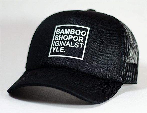 Boné Bamboo Telinha Logo Black