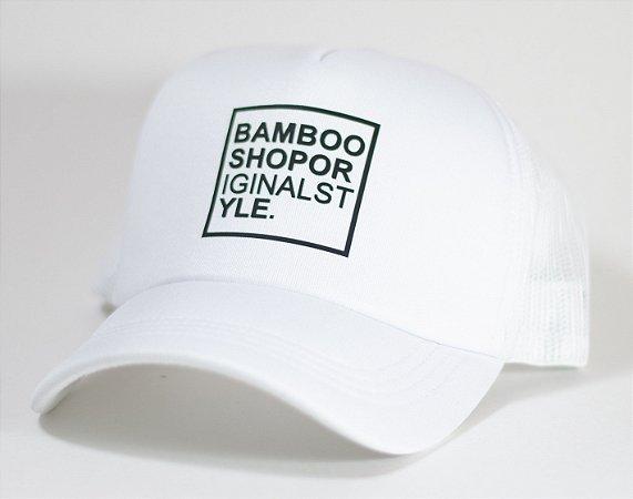 Boné Bamboo Telinha Logo Branco