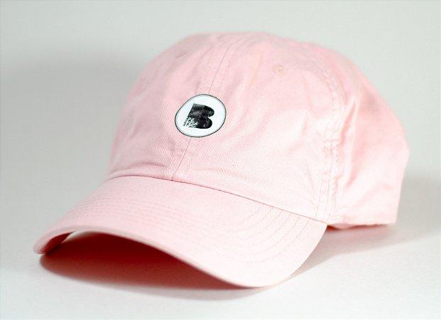 Boné Bamboo Dad Hat logo - Rosa