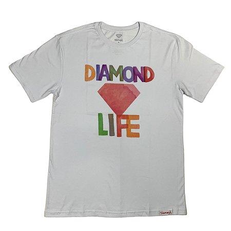 camiseta diamond watercolor tee white