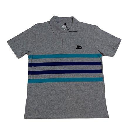 Camisa Polo Starter Piquet Listras Bicolor Mescla