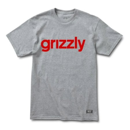 CAMISETA GRIZZLY LOWERCASE2 CINZA