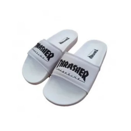 CHINELO SLIDE THRASHER MAGAZINE SKATE MAG BRANCO