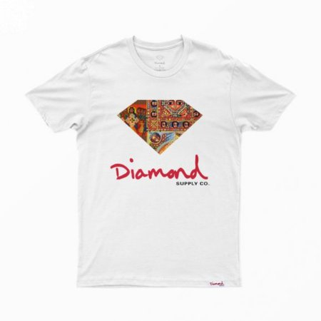 Camiseta Diamond Ethiopian White