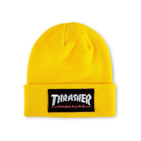 Gorro Thrasher Magazine Logo Patch Amarela