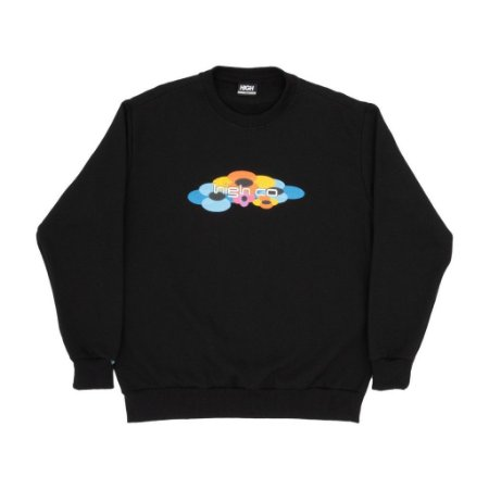 Moletom High Crewneck Flow Black
