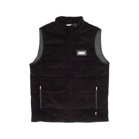 Corduroy Vest Black High