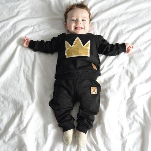 654ed4d6ff097 Roupa Bebê Conjunto Principe Princesa Coroa Top Importado - Me Baby ...
