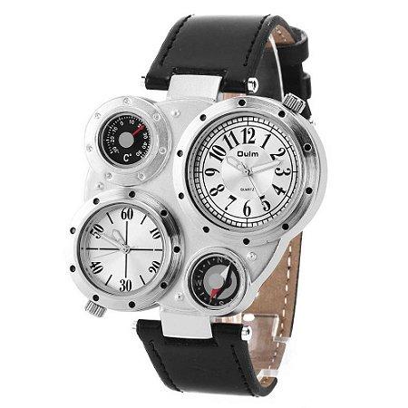 922377fa746 Relógio Masculino Pulso Oulm Ou03 Termômetro Bússola 2 Most ...