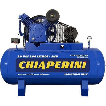 Compressor de Ar Alta Pressão 20 Pcm 200 Litros – Chiaperini 20/200 Blue