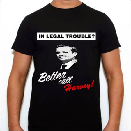 Camisa Masculina Preta Better Call Harvey