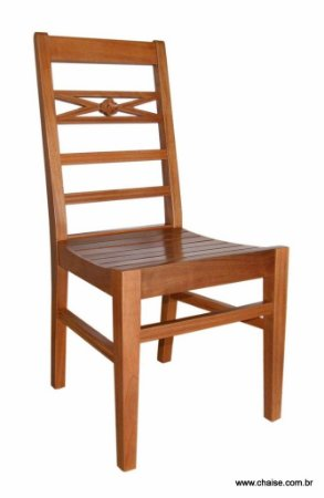 Cadeira Indonésia - assento de madeira