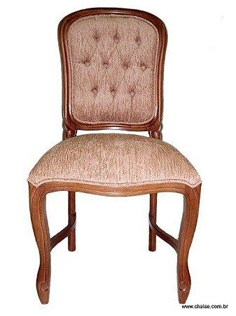 Cadeira Luis Felipe - sem braços e com capitonê no encosto