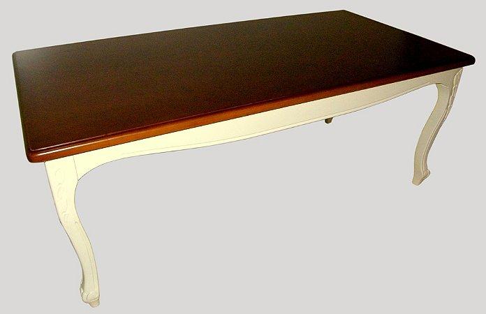 mesa de Jantar Luis XV - 200cm x 100cm - Tampo MDF