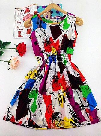 Vestido Regata Estampado Varias Estampas