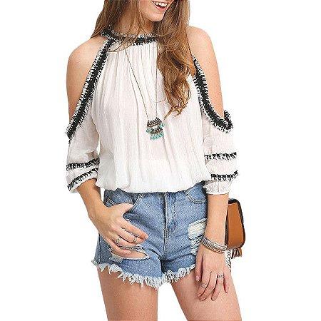 Blusa Fashion Crochet