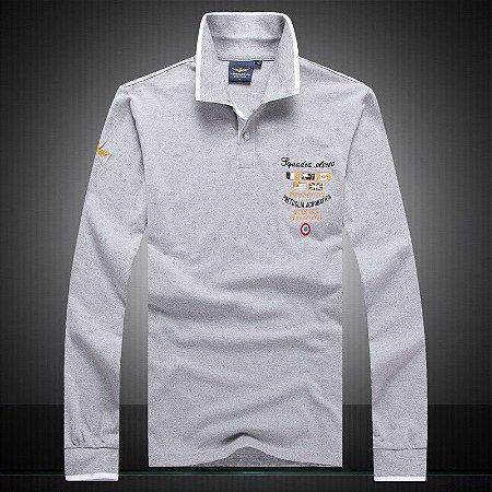 Camisa Polo Aeronautica Manga Longa