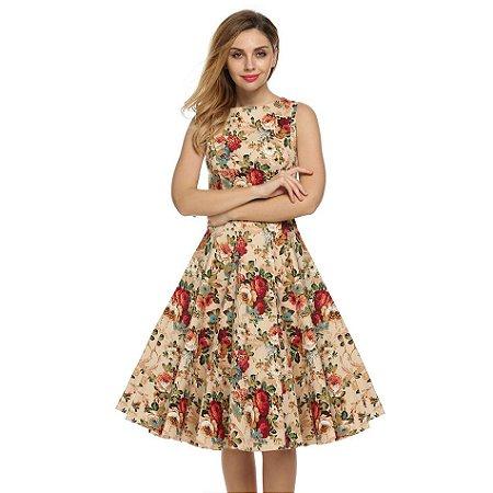 vestidos rodados floridos