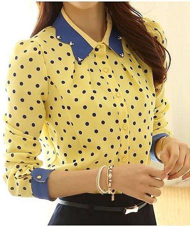 Camisa Colorida com Poa