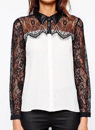 Camisa Renda Black