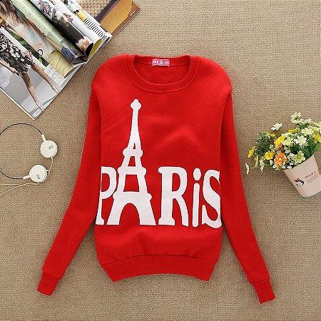 Sweater Estampa de Torre Eiffel
