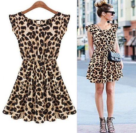 Vestido Casual Leopardo Print