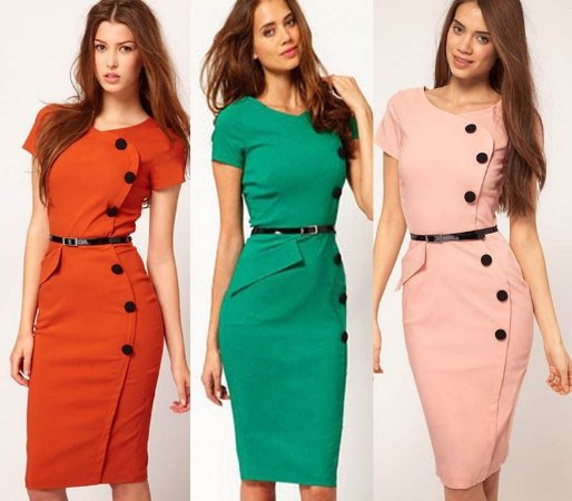 Vestido Social Colorido