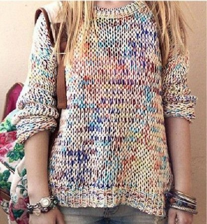 Sweater Colorido Vintage