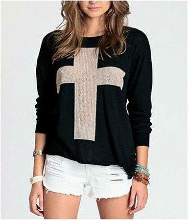 Sweater com Cruz