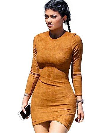 Vestido Sexy Camurca