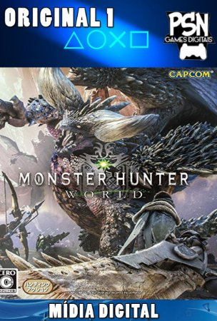 MONSTER HUNTER WORLD - PSN PS4 - MÍDIA DIGITAL