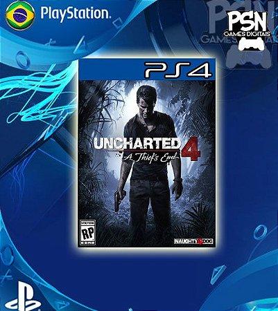 Uncharted 4 A Thief's End - Psn Ps4 Mídia Digital