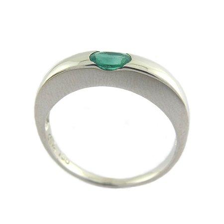 Anel de Ouro18k - Esmeralda - Pedra Preciosa - Magnífico