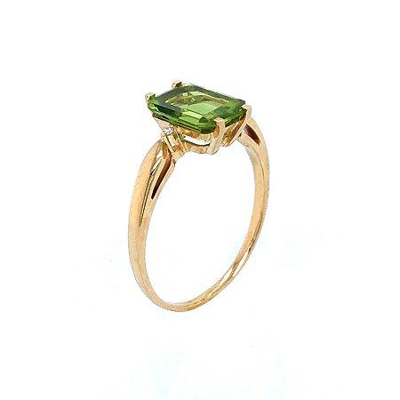 Anel de Ouro - Peridoto - Gemas - Sensacional
