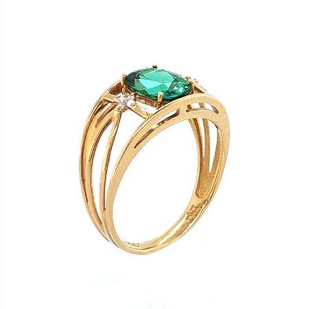 Anel de Ouro - turmalina - Pedra Preciosa - Desejável