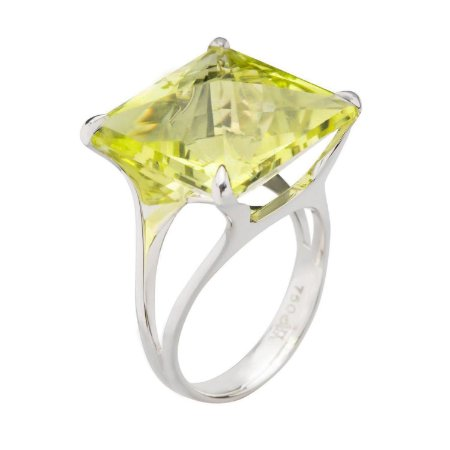 Anel de Ouro 18k - Greegold - Pedra Preciosa - Carre - Magnífico